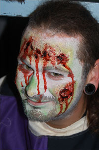 LARP Undead Makeup effects